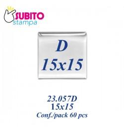 Adesivo resinato mm 15X15 - Confezione da 60 pezzi