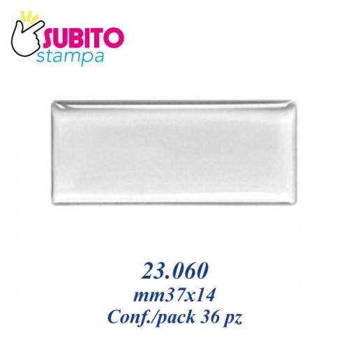 Adesivo resinato mm 37X14 - Confezione da 36 pezzi