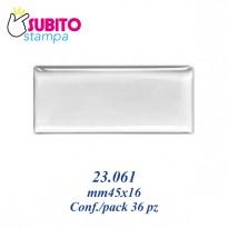 Adesivo resinato mm 45x16 - Confezione da 36 pezzi