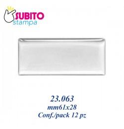 Adesivo resinato mm61x28- Confezione da 12 pezzi