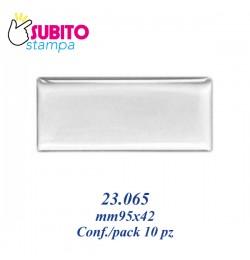 Adesivo resinato mm 95x42- Confezione da 10 pezzi
