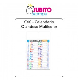 C60 - Calendario olandese multicolor
