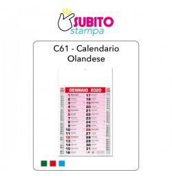 C61 - Calendario olandese