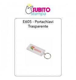 E605-Portachiavi plastica trasparente